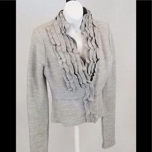 BCBGMAXAZRIA - Stacie Wool Jacket Grey Size Medium